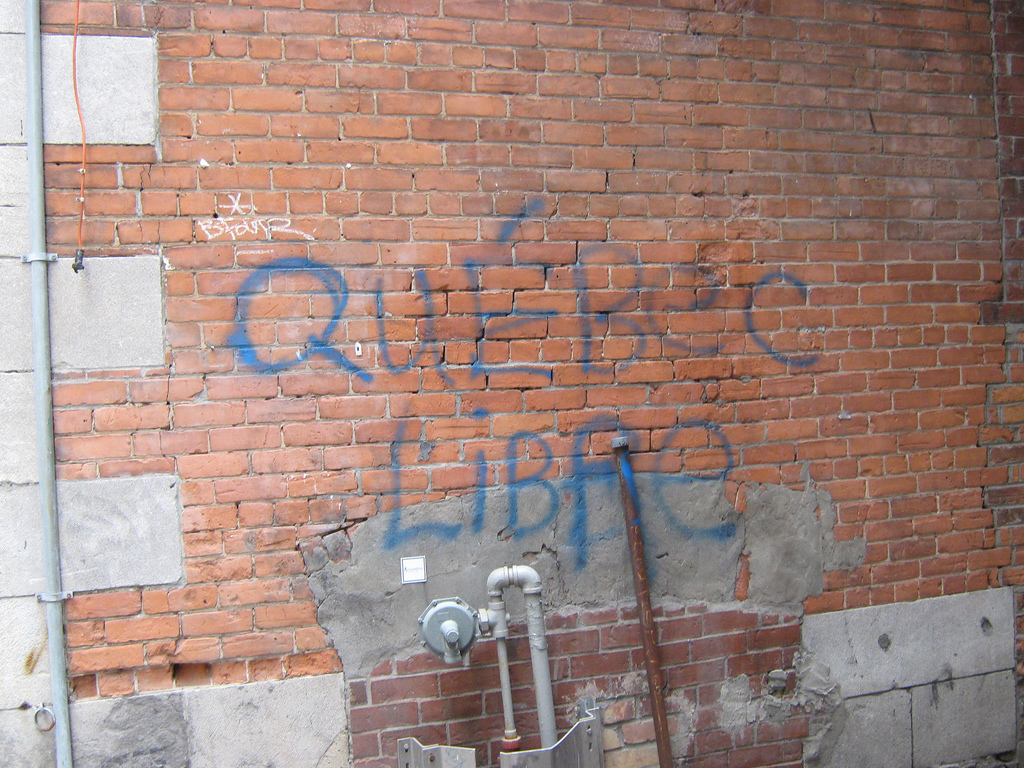 "Graffitti reading ""Free Québec."" (Photo by vomsorb via Flickr)"