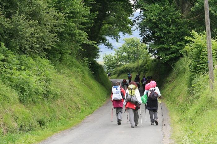 Three travelers on the Camino Francés. (Photo by Miguel Ángel García via Flickr)