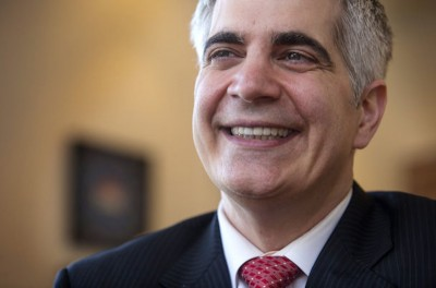 Damon Shadid, candidate for Seattle Municipal Court. (Photo by Ellen M Banner / The Seattle Times)