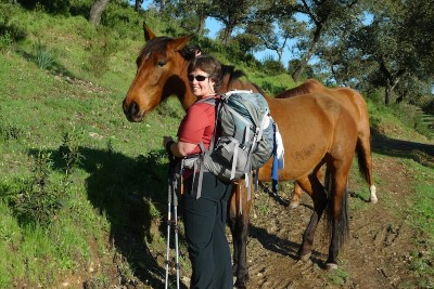 Marcia Shaver on the Via de la Plata, another pathway to Santiago de Compostela that runs along western Spain. (Photo courtesy Marcia Shaver)