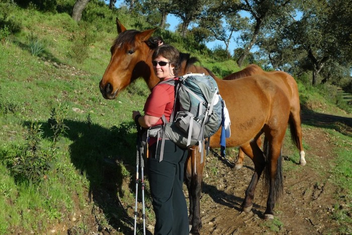 Marcia Shaver on the Via de la Plata, another pathway to Santiago de Compostela that runs along western Spain. (Photo courtesy Marcia Shaver)