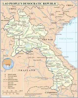 Laos (Map courtesy Wikipedia)