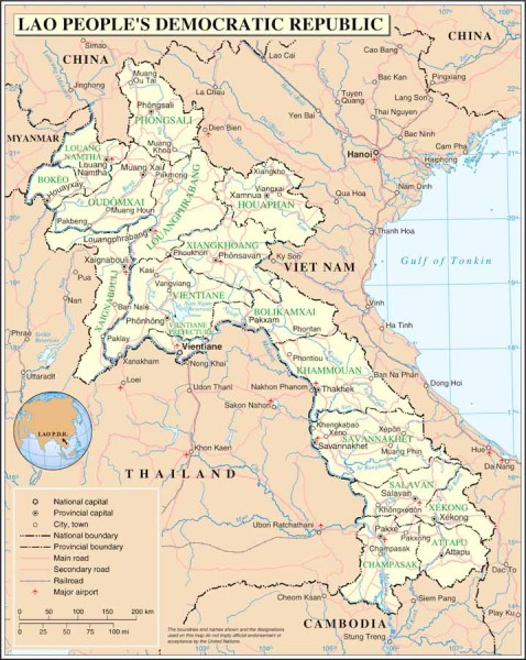 Laos (Map courtesy Wikipedia)
