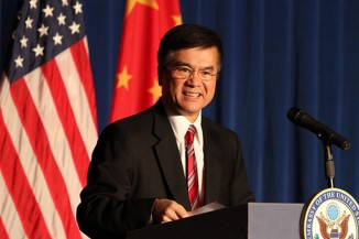 Gary Locke returns to Seattle after serving as the U.S. ambassador to China from 2011 to 2014. (Photo by Linda Cotton)