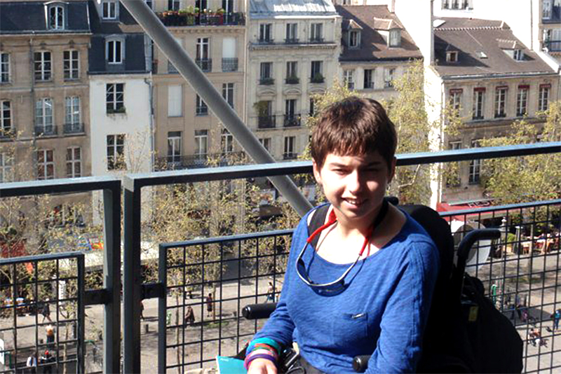 Author Hannah Langlie on her visit to Paris. (Photo courtesy of Hannah Langlie)