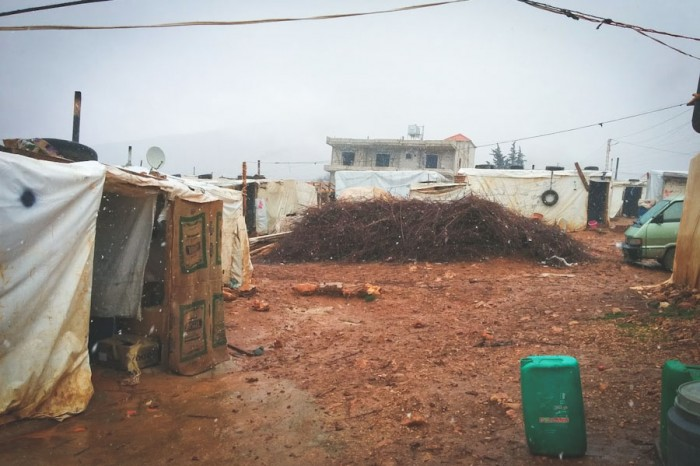 Winter brings rain, mud and cold to the Bekaa Informal Tented Settlement in Lebanon. (Photo by Karin Huster)