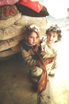 Children in the Bekaa ITS rarely have a chance to go to school. (Photo by Karin Huster)