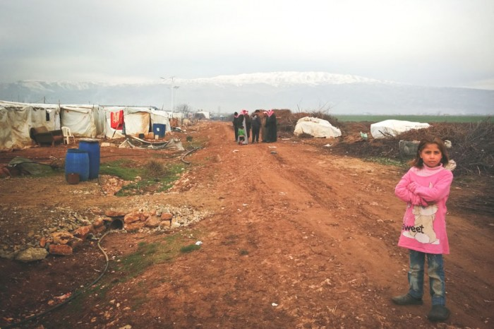 Bekaa Informal Tented Settlement in Lebanon. (Photo by Karin Huster)