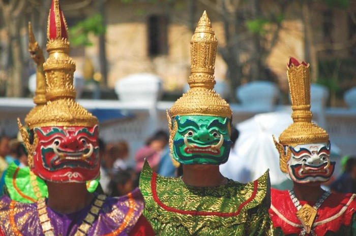 Dancers in traditional costumes at a New Year's parade in Laos. (Photo from Flickr by Darren Donahue)