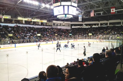 The Seattle Thunderbirds, a team in the Western Hockey League, draw consistent crowds for their home games in Kent. (Photo by Terrence Hill)