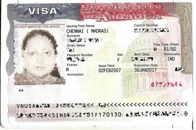 U.S. Visa issued in India. (Photo by Muzi via Wikimedia Commons)