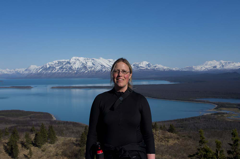 Corinna Welzenbach in Katmai National Park, Alaska. (Photo by National Park Service)