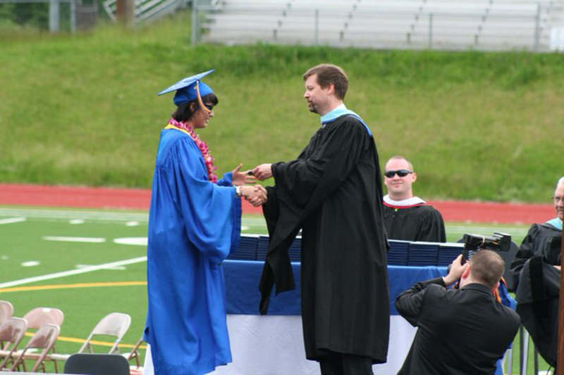 The author graduated in the top 1% of her class at Bellevue High School. (Photo by Melanie Hassler)