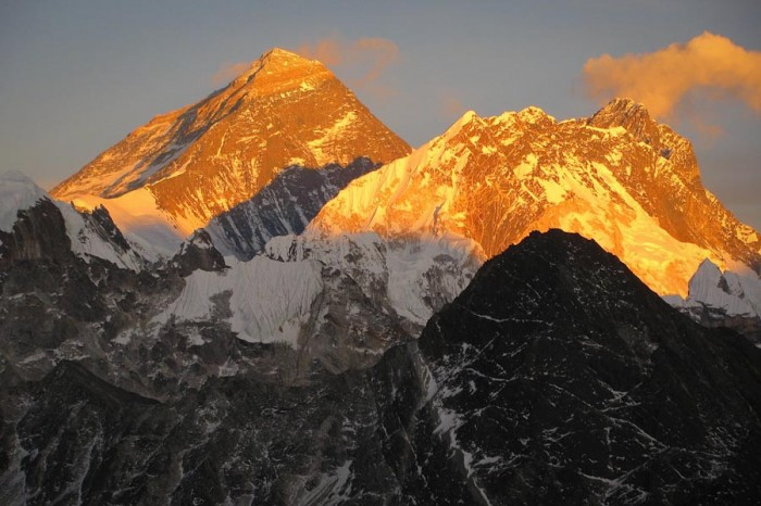 Alpenglow on Everest. (Photo by NASA Goddard Space Flight Center)