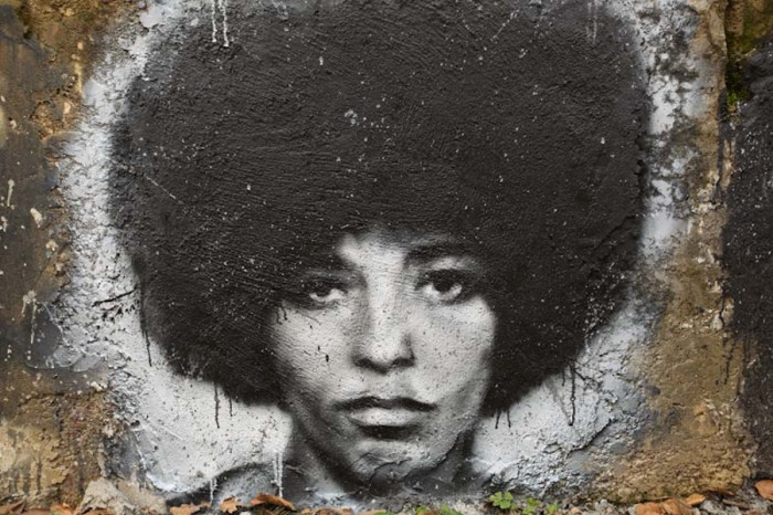 A mural of Angela Davis at the Abode of Chaos Museum in France. (Photo by Thierry Ehrmann)