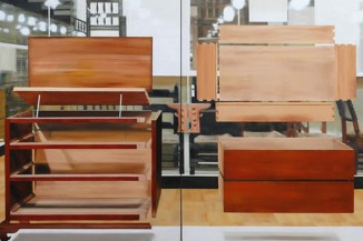 """American Dresser,"" 2014 by Thuy-Van Vu. Image courtesy of G. Gibson Gallery."