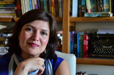 """Sonora Jha, journalism professor at Seattle University, shines light on the issue of farmer suicides in India with her first novel, """"Foreign."""" (Photo by Seth Halleran)"""