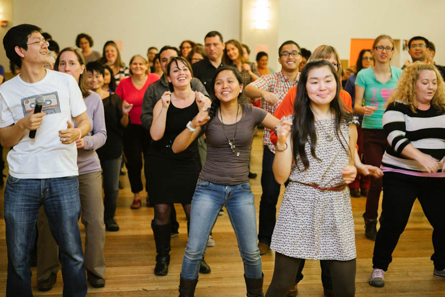 The World Dance Party held at the Filipino Community Center in November. (Photo by Steven Zhang)