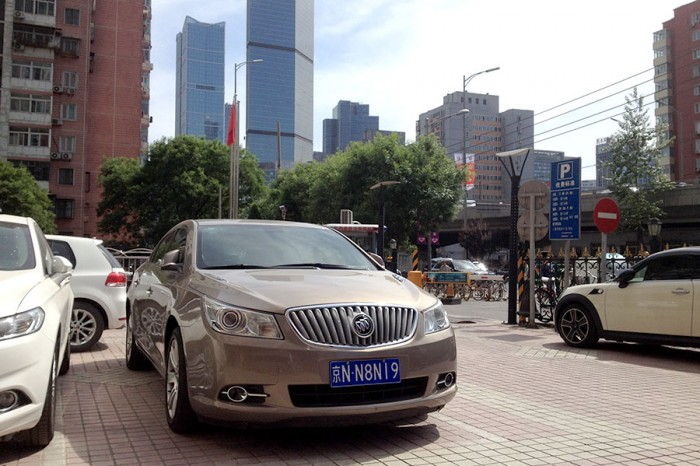A Buick model is parked on a Beijing street. (Photo by Abbie VanSickle)