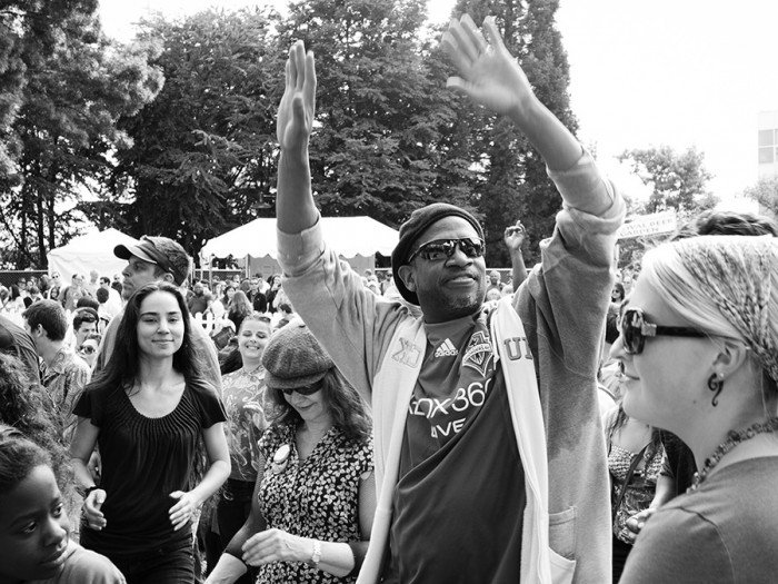 The crowd gets down at Folklife 2013. (Photo by Piper Hanson)
