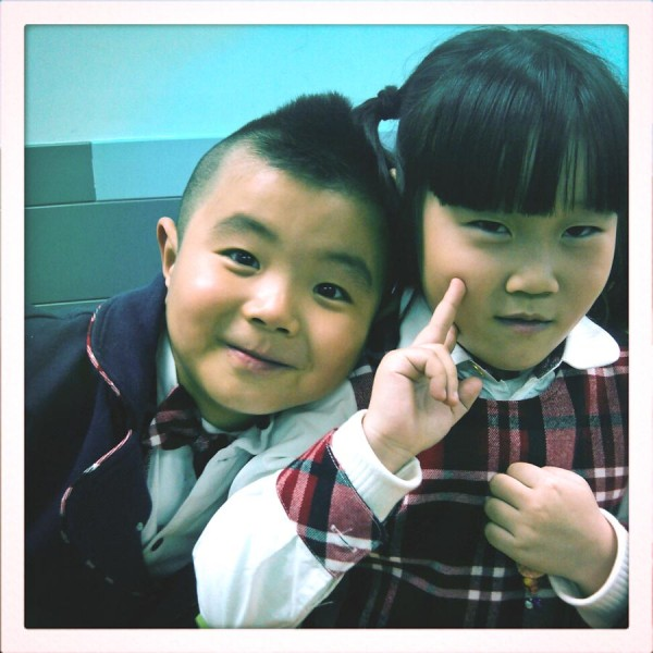 Two students in the age 5-7 class. (Photo by Allison Reibel)