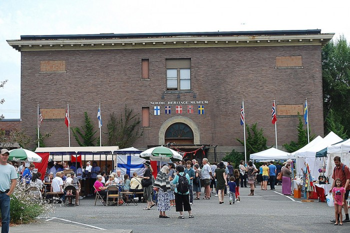 Nordic Heritage Museum occupies the former Webster Elementary School in Seattle's Ballard neighborhood (Photo by Joe Wolf via Flickr)