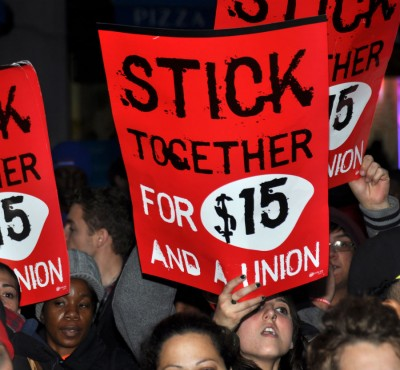 Demands for $15 wages and the right to unionize has dated back to November 2012. Photo by Michael Fleshman