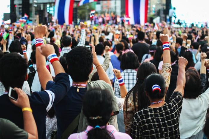 Protestors gather at a Shutdown Bangkok event on Jan. 16, 2014.