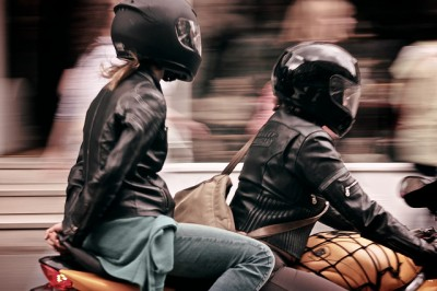 So you wanna look cool in leather? Don't buy jackets out of the back of a van. (photo via Flickr user faby74)