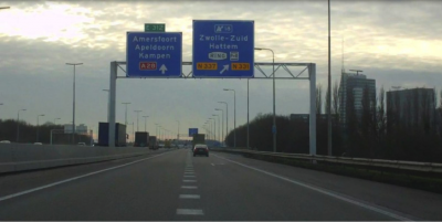 (Highway sign outside the City of Zwolle in the Netherlands. Courtesy of Chriszwolle. bit.ly/TQrLwA)