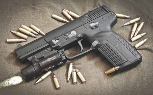 An FN Five-seven pistol similar to that used by Nidal Malik Hasan in the 2009 Fort Hood Shooting. (Photo from Wikipedia)