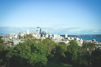 Summer days make the view of the Seattle skyline from Kerry Park worth the trek up Queen Anne. (Photo by Annaliese Davis)