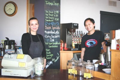 Husband and wife team Willow and James Ly keep a family atmosphere at Caffé Zingaro in Seattle's Lower Queen Anne. (Photo by Chris Leggett)