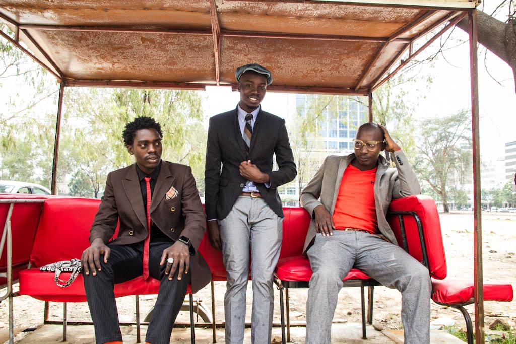 """Kevin """"Abbra"""" Abraham, Haji Mutonye and Ismael Akuku. (Photo by Kelly Ranck)"""