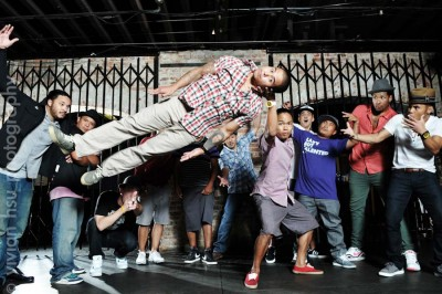 Renowned Seattle breakdancing crew Massive Monkees. (Photo by Vivian Hsu)