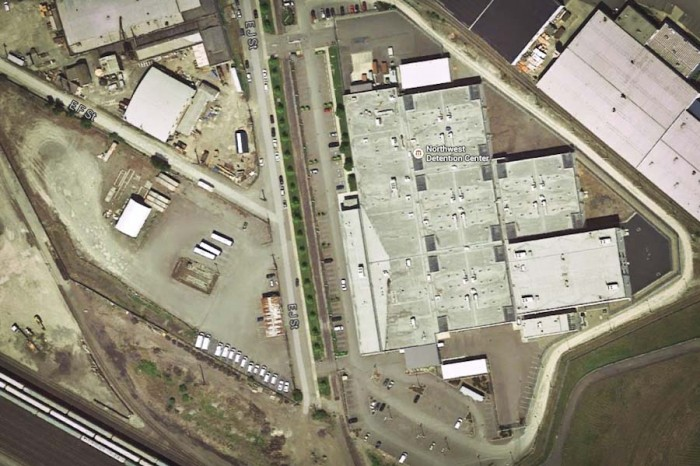 The Northwest Detention Center in Tacoma has been used to imprison immigrants slated for deportation since April of 2004. (Image via Google Maps)