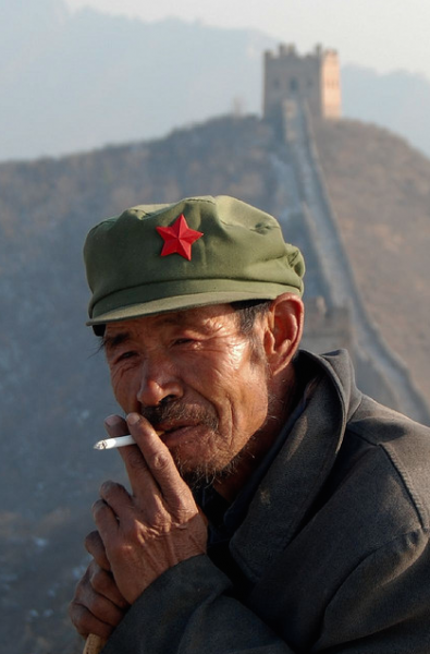 350 million people in China smoke cigarettes.