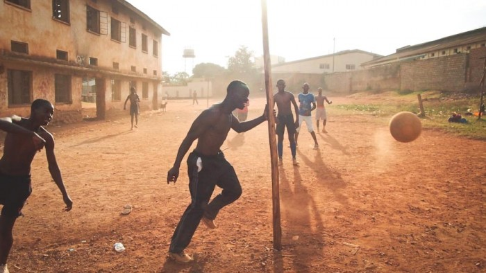 Young men play soccer in Uganda, which now has one of the world's harshest anti-homosexuality laws. (Photo courtesy Obumu Media Lab)