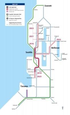 Plans for Sound Transit's light rail expansion, including the route to Lynnwood that threatened the Latvian Church.