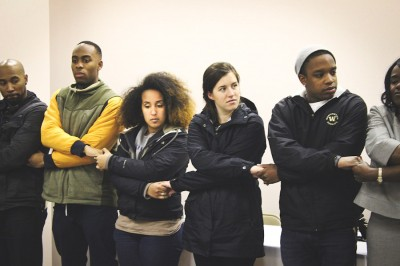 Aida Solomon (third from left) on a pilgrimage of UW students to historical civil rights sites in the south. (Photo by Erica Thompson)