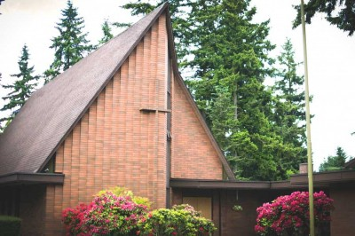 The Seattle Latvian Church in Northgate, which was threatened by Sound Transit's new light rail route. (Photo by Walker Orenstein)