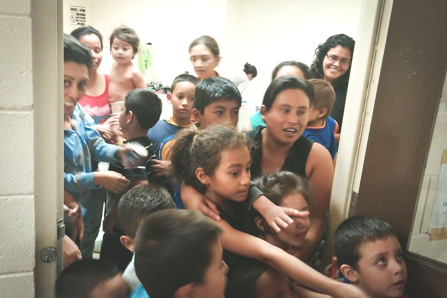 Unaccompanied migrant children at a Department of Health and Human Services facility in south Texas (Photo courtesy U.S. Representative Henry Cuellar)