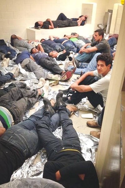 Unaccompanied migrant youth at a Department of Health and Human Services facility in south Texas (Photo via U.S. Representative Henry Cuellar)