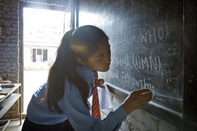 Shanta Darnal attended school in Kathmandu thanks to Western donations. (Photo by Amy Benson)