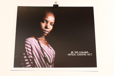 One of the 'six word memoirs' on display in the Ziwa art show. (Photo by Kamna Shastri of an image by Obumu Media Lab)