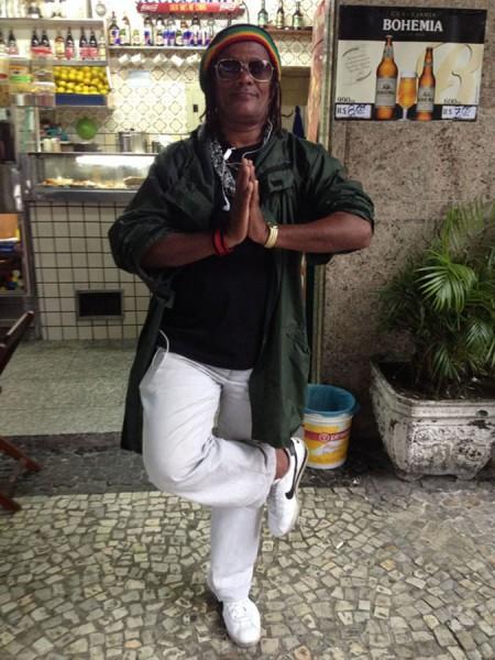 """Djalma Olega Rio Silva Filho, who calls himself """"Crazy Brother."""" (Photo by Nick Wong)"""
