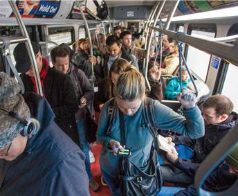 Bus full of passengers...