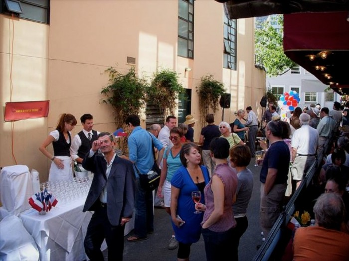 Post Alley celebrates Bastille Day during Café Campagne's annual festivities. (Photo courtesy Bill Munn)