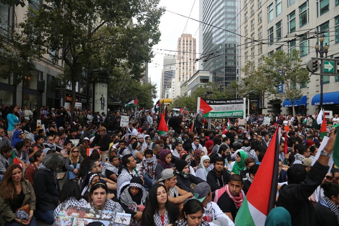 July 20th demonstration for Gaza in San Francisco. (Photo by Daniela Kantorova on Flickr)