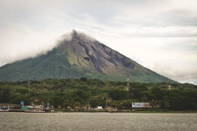 A view of Ometepe Island, which was formed by two volcanoes in the middle of Lake Nicaragua. (Photo courtesy Emma Spickard)